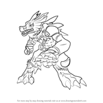 How to Draw WereGarurumon from Digimon