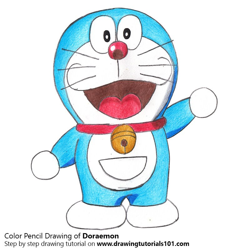 Doraemon Color Pencil Drawing