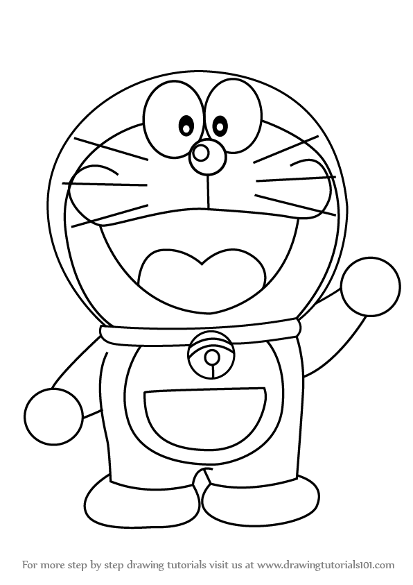 Learn How to Draw Doraemon Doraemon Step by Step : Drawing Tutorials