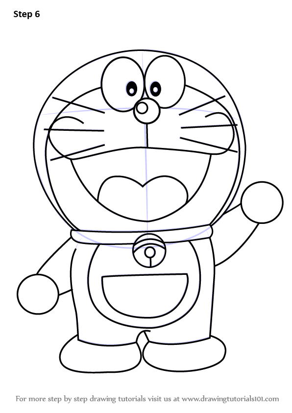 Learn How to Draw Doraemon (Doraemon) Step by Step ...