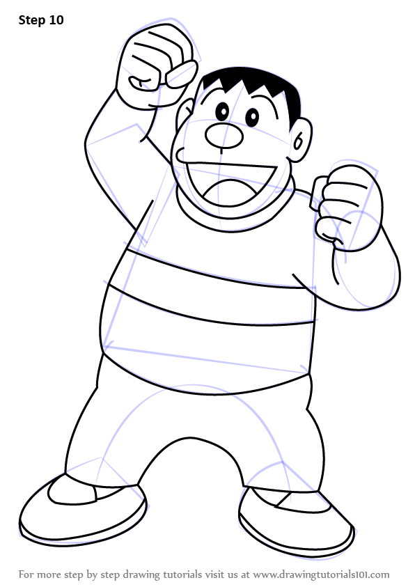 Nobita And Doraemon Coloring Pages Sketch Coloring Page