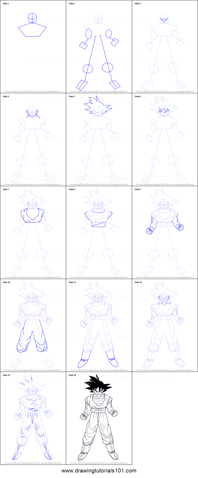 how to draw dragon ball z step by step