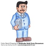 How to Draw Nobisuke Nobi from Doraemon