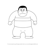 How to Draw Takeshi Gouda from Doraemon