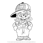 How to Draw Arale Norimaki from Dr. Slump