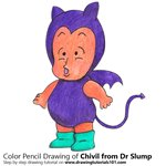 How to Draw Chivil from Dr. Slump