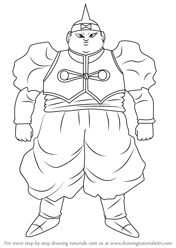 Learn How To Draw Android 19 From Dragon Ball Z Dragon