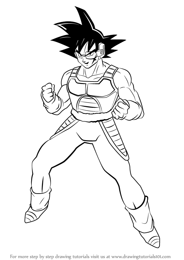 Learn How To Draw Bardock From Dragon Ball Z (Dragon Ball Z) Step By Step  Drawing Tutorials