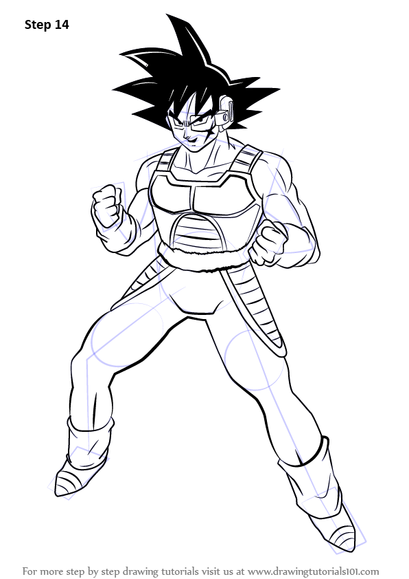 Step By Step How To Draw Bardock From Dragon Ball Z
