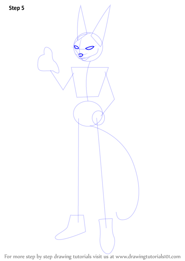 Learn How To Draw Beerus From Dragon Ball Z Dragon Ball Z Step By