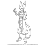 How to Draw Beerus from Dragon Ball Z