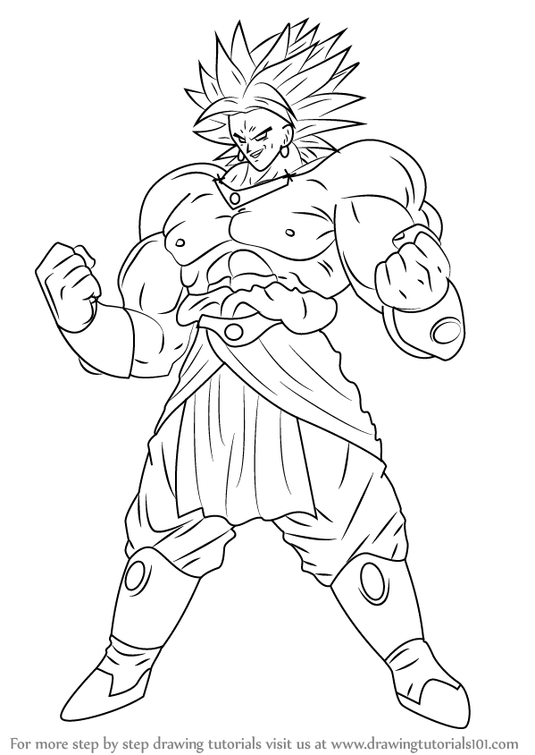 Step by Step How to Draw Broly