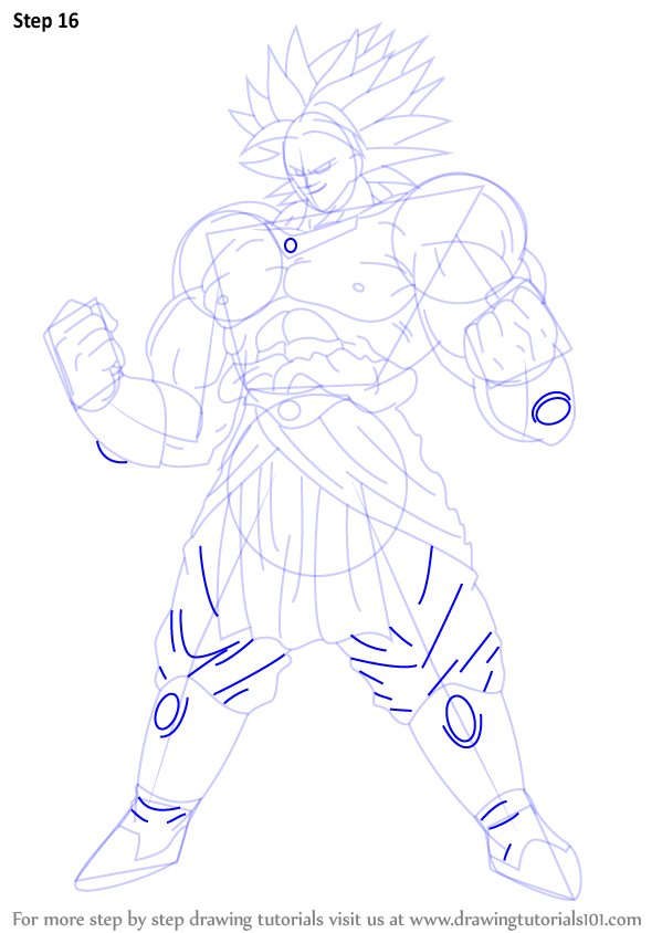 Learn How To Draw Broly From Dragon Ball Z Dragon Ball Z Step By