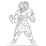 How to Draw Broly from Dragon Ball Z