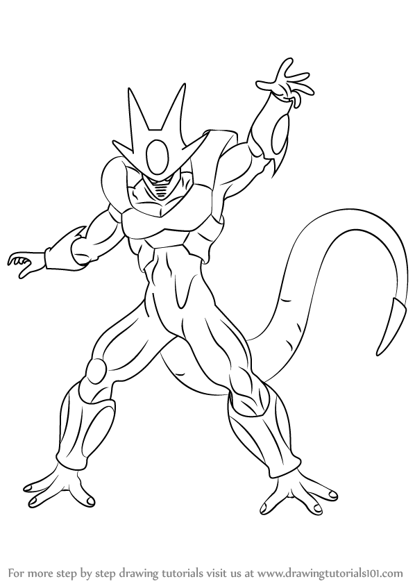 Learn How To Draw Cooler From Dragon Ball Z Dragon Ball Z Step By