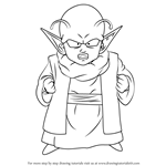 How to Draw Dende from Dragon Ball Z