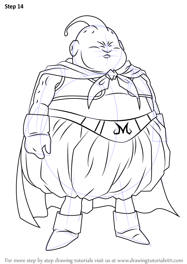 Step by Step How to Draw Fat Buu