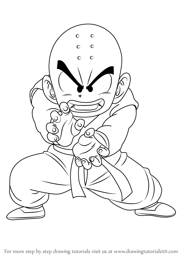 Learn How To Draw Krillin From Dragon Ball Z Dragon Ball Z