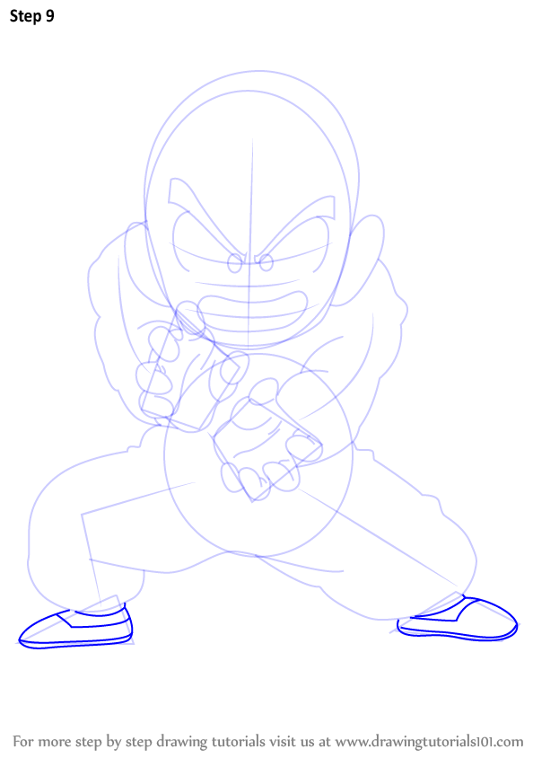 learn how to draw krillin from dragon ball z  dragon ball z  step by step   drawing tutorials