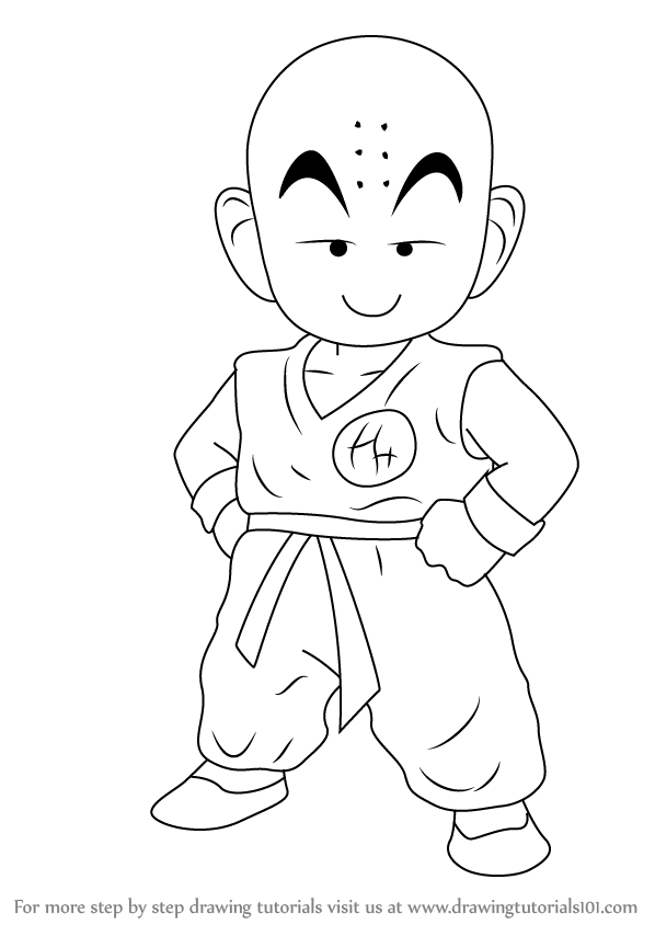 Learn How to Draw Kuririn from Dragon Ball Z (Dragon Ball ...