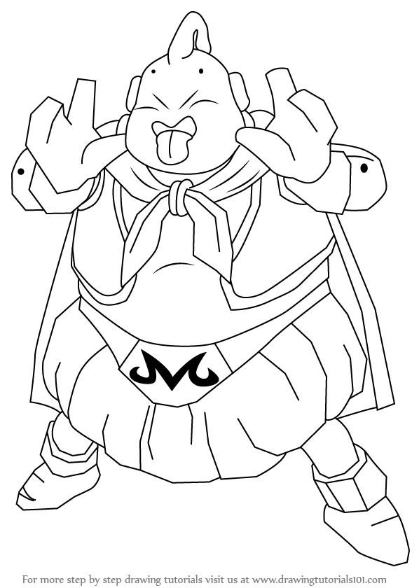 how to draw majin boo from dragon ball z - Boo Dragon Ball Z
