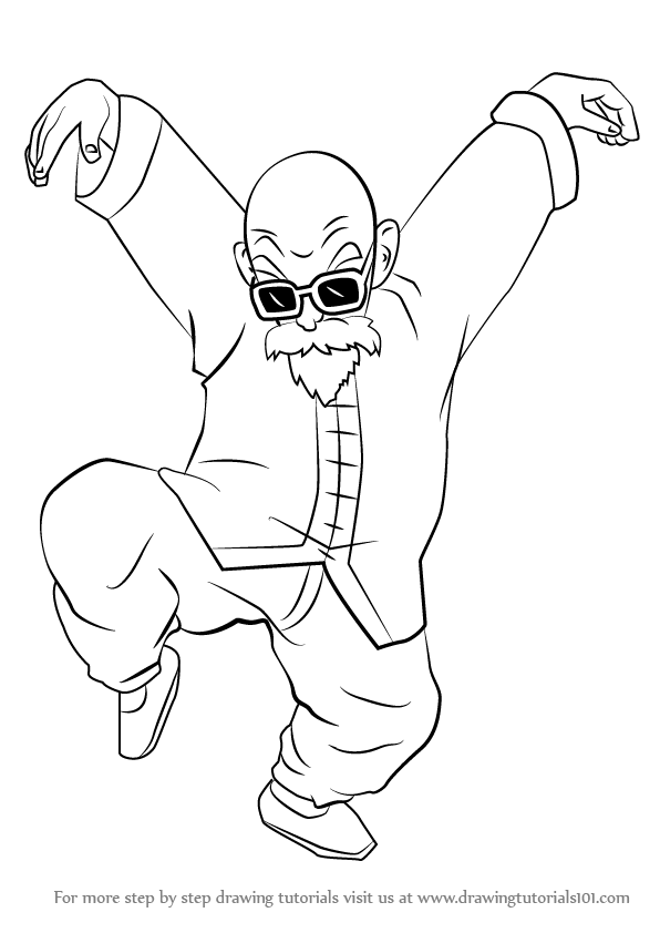 Learn How to Draw Master Roshi