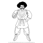 How to Draw Mr Satan from Dragon Ball Z