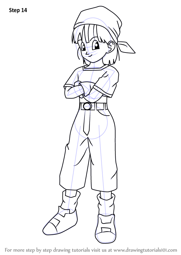 Learn How To Draw Pan From Dragon Ball Z Dragon Ball Z