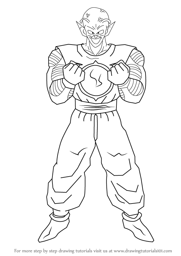 Step by Step How to Draw Piccolo