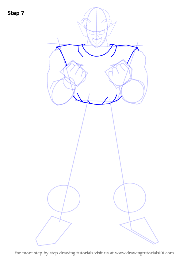 how to draw piccolo full body