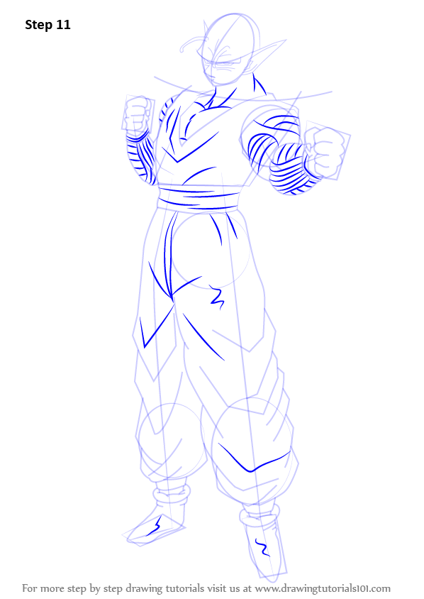 Step by Step How to Draw Piccolo from Dragon Ball Z ...