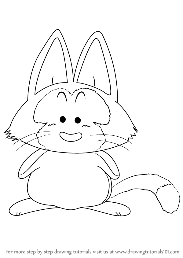Learn How To Draw Puar From Dragon Ball Z Dragon Ball Z Step By