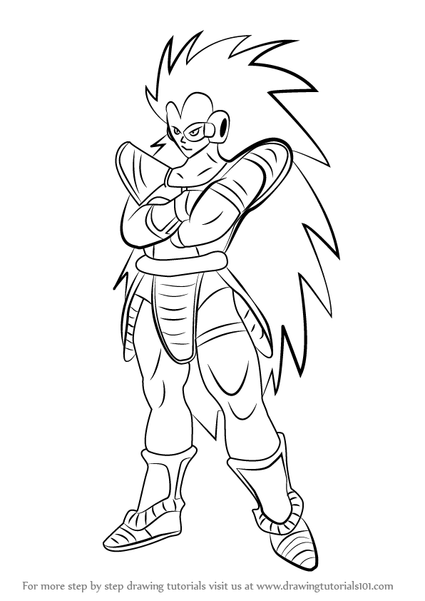 Learn How to Draw Raditz from Dragon