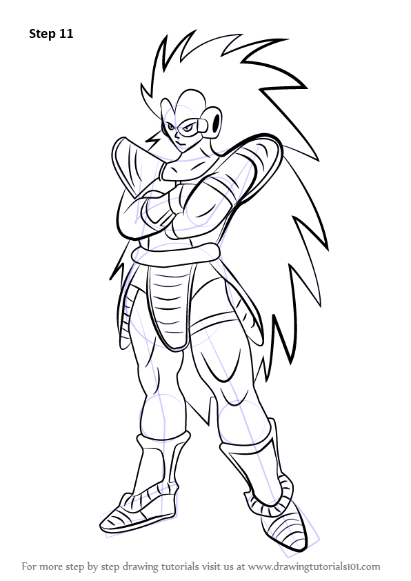 Step By Step How To Draw Raditz From Dragon Ball Z