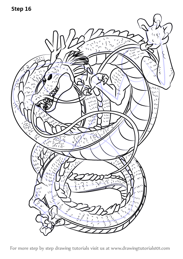 Step By Step How To Draw Shenron From Dragon Ball Z