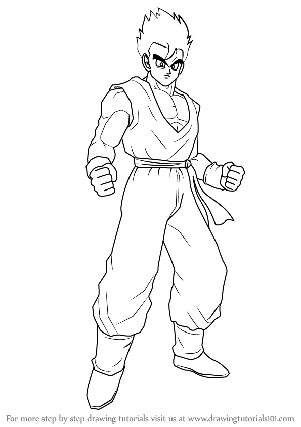 Learn How to Draw Son Gohan from Dragon Ball Z (Dragon ...