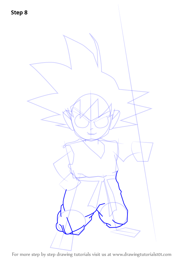 Learn How to Draw Son Goku from Dragon Ball Z (Dragon Ball ...