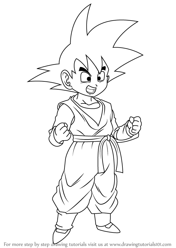 Learn How To Draw Son Goten From Dragon Ball Z Dragon Ball Z Step