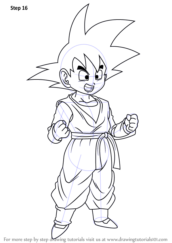 Learn How To Draw Son Goten From Dragon Ball Z Dragon Ball Z Step By Step Drawing Tutorials