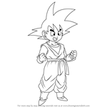 How to Draw Son Goten from Dragon Ball Z