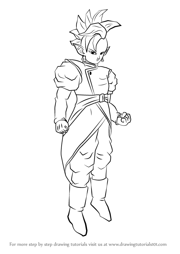 Step By Step How To Draw Supreme Kai From Dragon Ball Z
