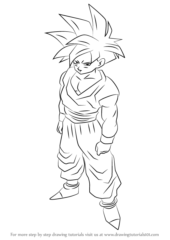 Learn How To Draw Teen Gohan From Dragon Ball Z Dragon Ball Z Step