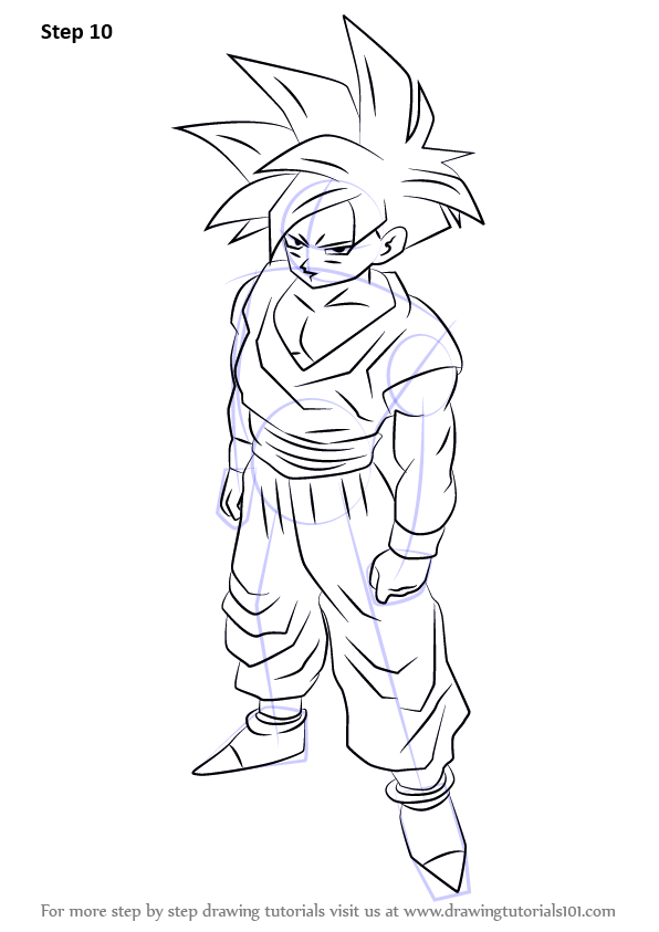 Learn How to Draw Teen Gohan from