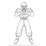 How to Draw Tenshinhan from Dragon Ball Z