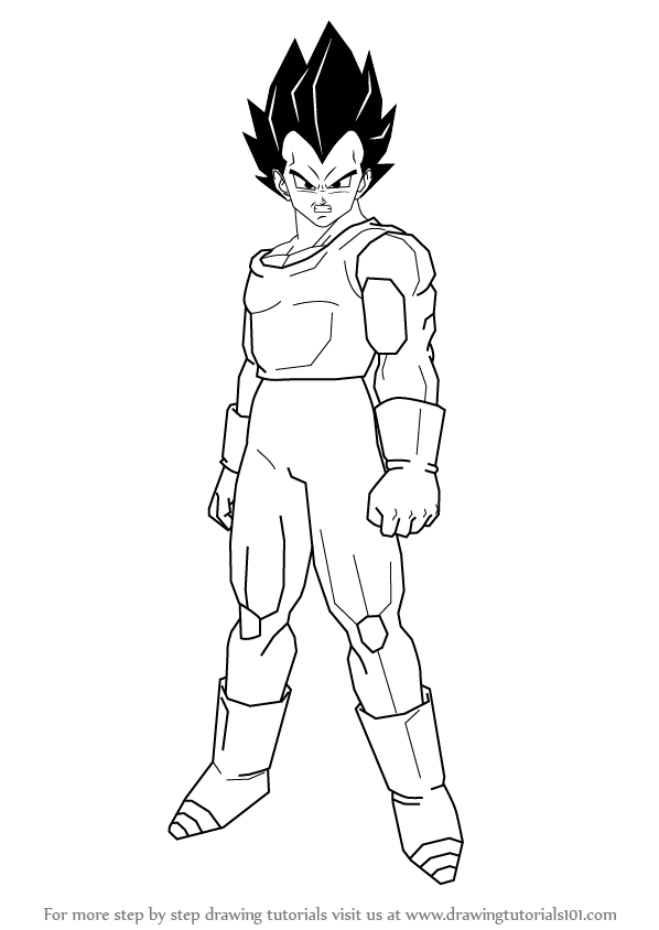 Learn How to Draw Vegeta from Dragon