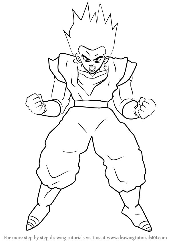 How to draw vegito from dragon ball z
