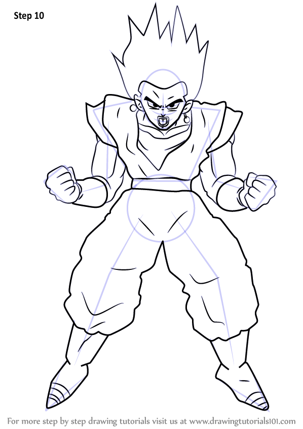 Learn How To Draw Vegito From Dragon Ball Z Dragon Ball Z