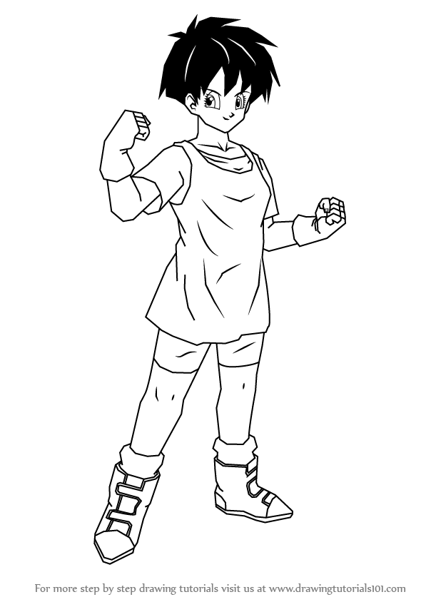 Step by Step How to Draw Videl