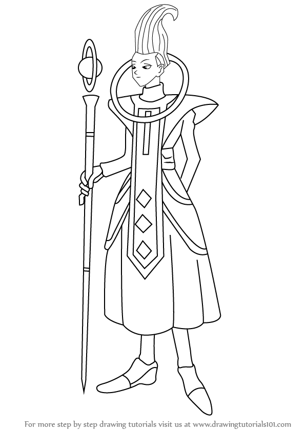How To Draw Whis From Dragon Ball Z on Shapes Coloring Pages For Kids