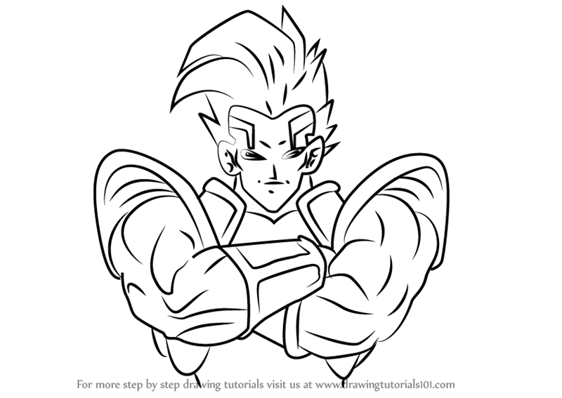 Learn How To Draw Super Baby Vegeta 2 From Dragon Ball
